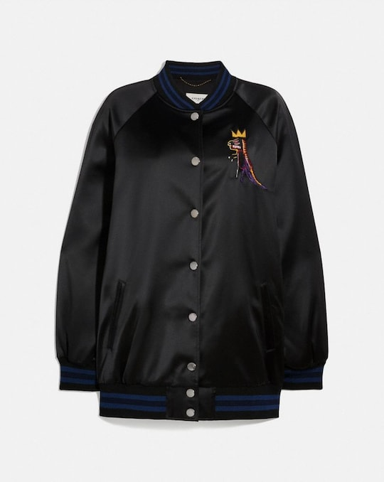 COACH X JEAN-MICHEL BASQUIAT OVERSIZED VARSITY JACKET