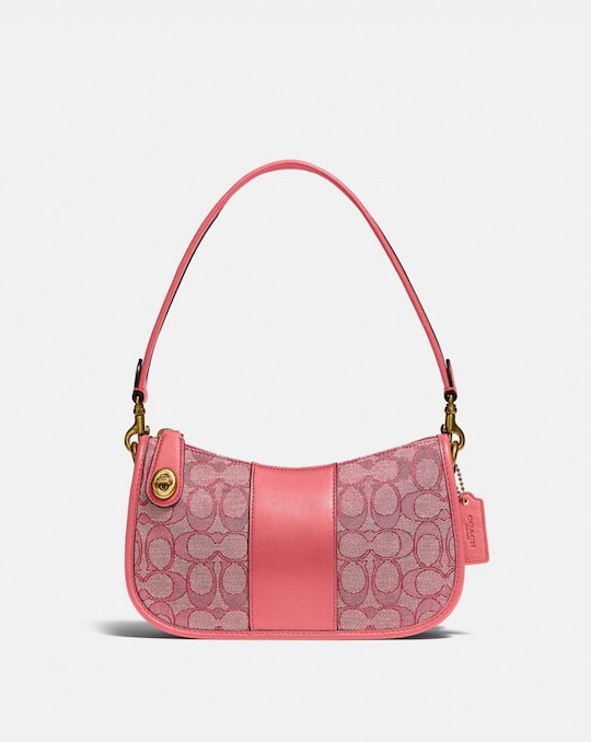 SWINGER BAG IN SIGNATURE JACQUARD