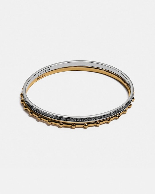 PEGGED AND PAVE BANGLE SET