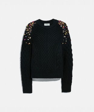 HOLIDAY EMBELLISHED CREWNECK