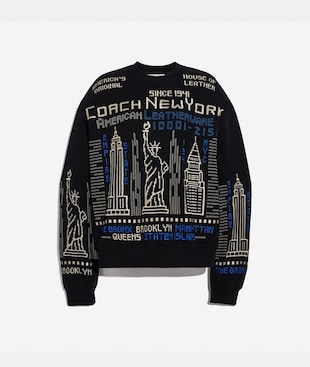 CITYSCAPE EMBROIDERED SWEATSHIRT