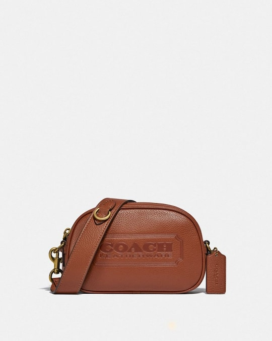 CAMERA CROSSBODY WITH COACH BADGE