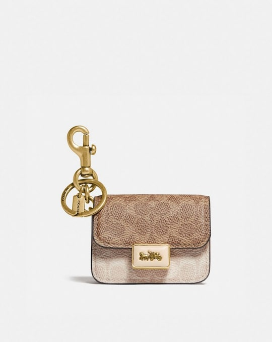MINI ALIE BAG CHARM IN SIGNATURE CANVAS