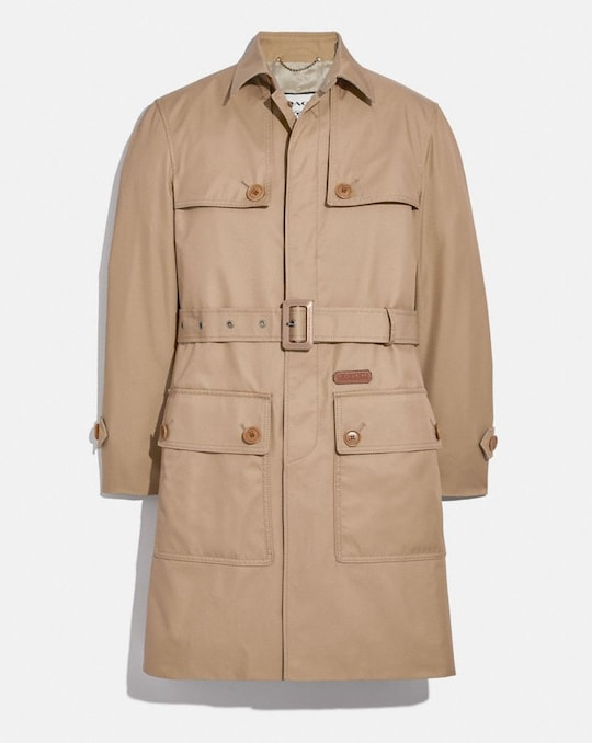 TRENCH IN ORGANIC COTTON AND RECYCLED POLYESTER