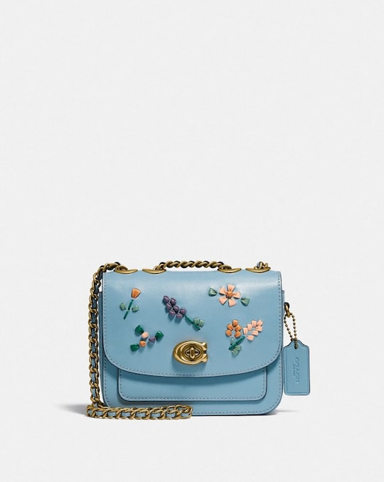 MADISON SHOULDER BAG 16 WITH FLORAL EMBROIDERY