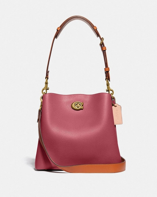 WILLOW BUCKET BAG IN COLORBLOCK