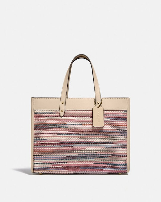 FIELD TOTE 30 IN UPWOVEN LEATHER