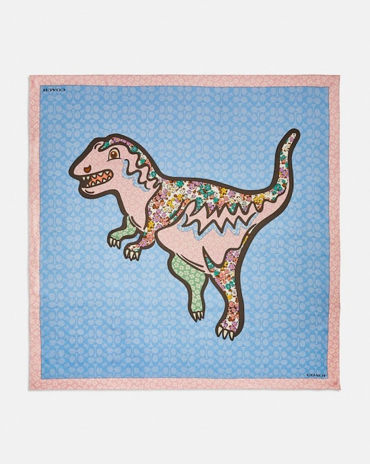 PATCHWORK REXY PRINT SILK SQUARE SCARF