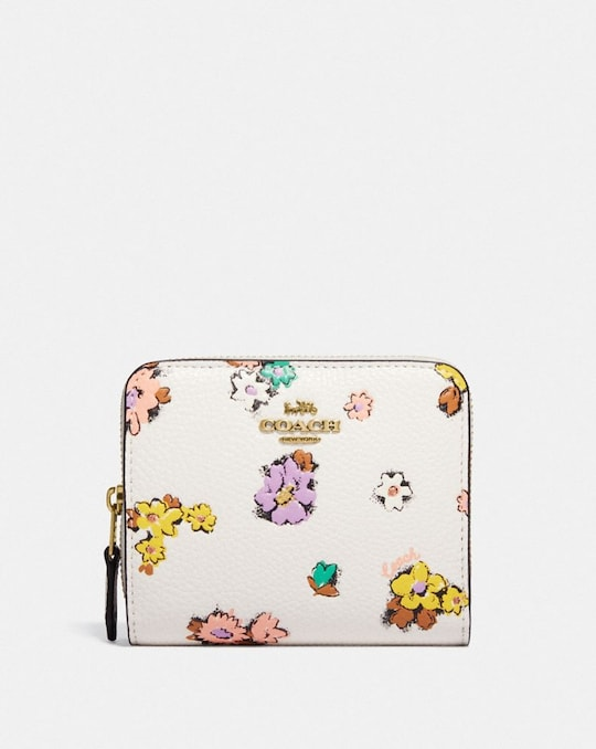 CARTERA BILLETERA CON ESTAMPADO FLORAL