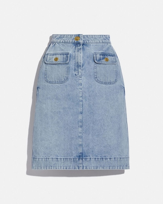 WASHED DENIM SKIRT