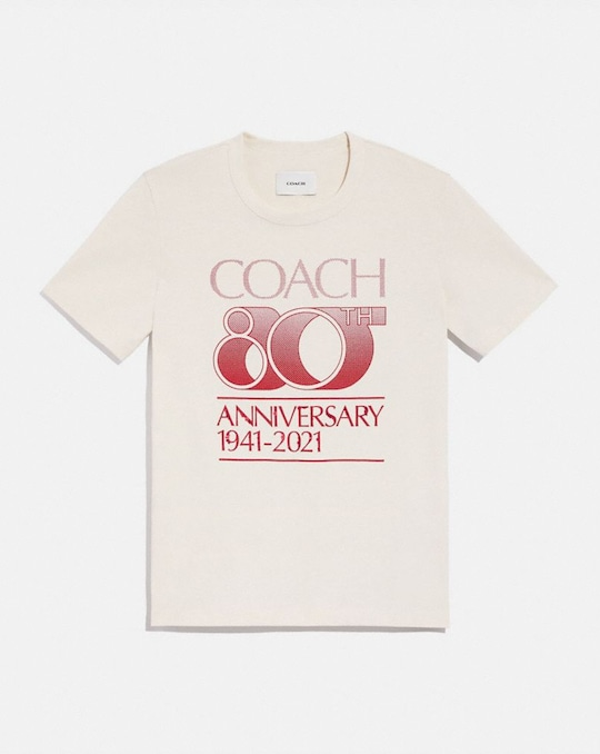 COACH 80TH ANNIVERSARY T-SHIRT IN ORGANIC COTTON