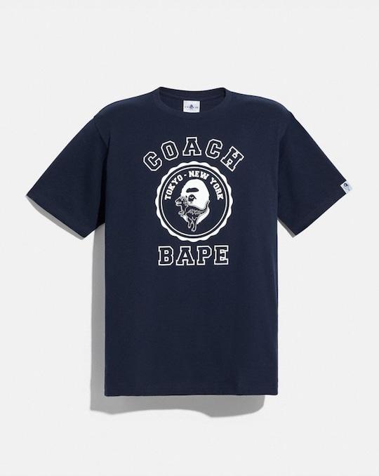 T-SHIRT GRAPHIQUE BAPE X COACH