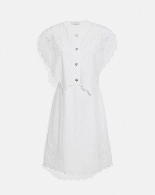 SHORT BRODERIE ANGLAISE DRESS