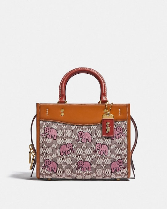 ROGUE 25 IN SIGNATURE TEXTILE JACQUARD WITH EMBROIDERED ELEPHANT MOTIF