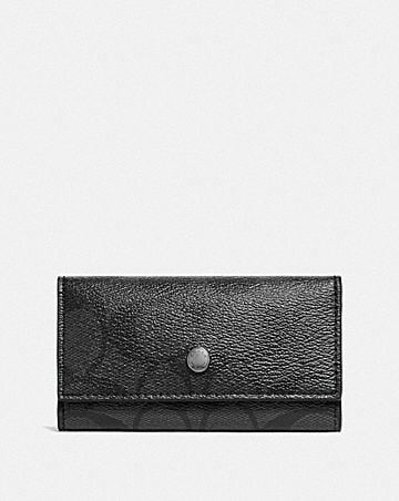 FOUR RING KEY CASE IN SIGNATURE CANVAS