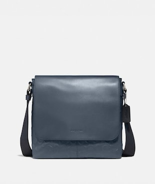 CHARLES SMALL MESSENGER IN SIGNATURE LEATHER