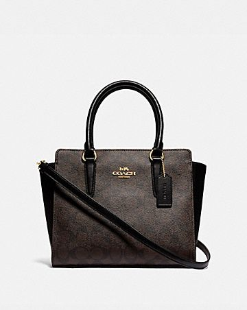 LEAH SATCHEL IN SIGNATURE CANVAS