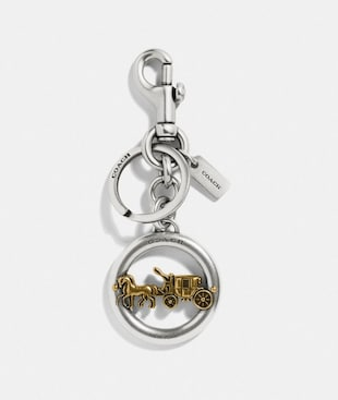 HORSE AND CARRIAGE PENDANT BAG CHARM