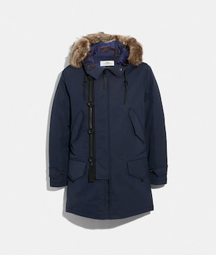 3-IN-1 DOWN PARKA WITH SHEARLING