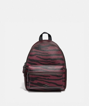 MINI CHARLIE BACKPACK WITH TIGER PRINT