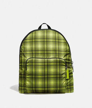 PACKABLE BACKPACK WITH SOFT PLAID PRINT
