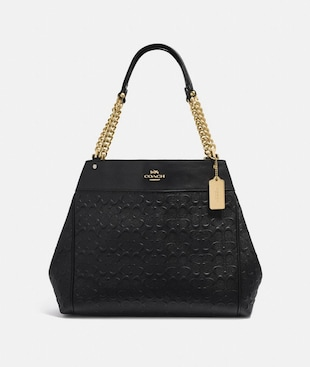 LEXY CHAIN SHOULDER BAG IN SIGNATURE LEATHER