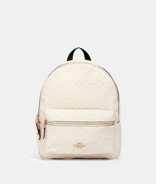 MEDIUM CHARLIE BACKPACK IN SIGNATURE LEATHER