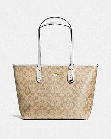CITY ZIP TOTE IN SIGNATURE CANVAS