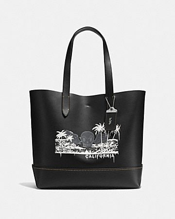 GOTHAM TOTE WITH WILD SURF PRINT