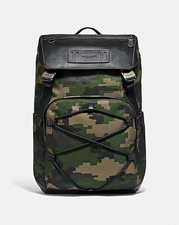 TERRAIN BACKPACK WITH PIXELATED CAMO PRINT