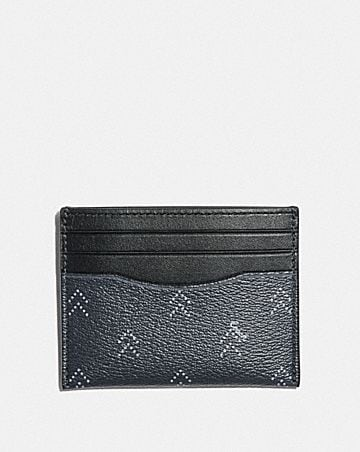 SLIM ID CARD CASE WITH DOT ARROW PRINT