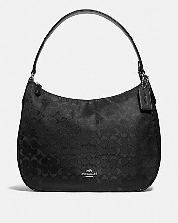 ZIP SHOULDER BAG IN SIGNATURE NYLON