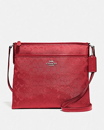 FILE CROSSBODY IN SIGNATURE NYLON
