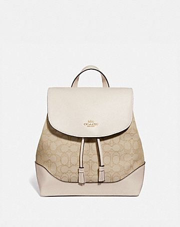 ELLE BACKPACK IN SIGNATURE JACQUARD