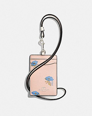 ID LANYARD WITH BELL FLOWER PRINT