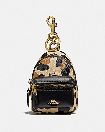 BACKPACK COIN CASE WITH ANIMAL PRINT