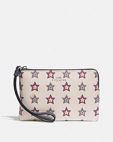 CORNER ZIP WRISTLET WITH WESTERN STAR PRINT