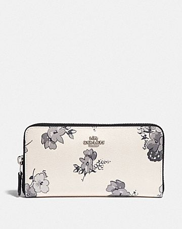 ACCORDION ZIP WALLET WITH FAIRY TALE FLORAL PRINT
