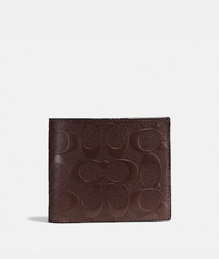 COMPACT ID WALLET IN SIGNATURE LEATHER