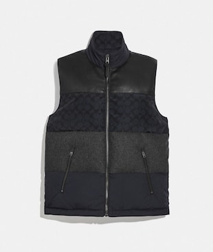 PATCHWORK DOWN VEST