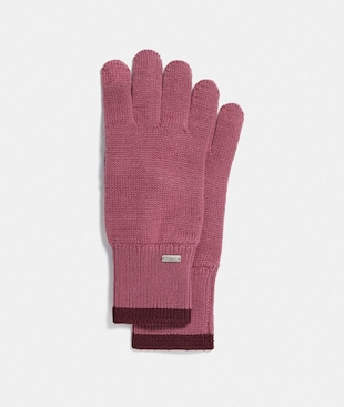 COLORBLOCKED KNIT TECH GLOVES