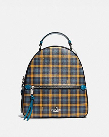 JORDYN BACKPACK WITH GINGHAM PRINT