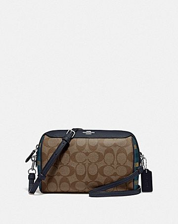BENNETT CROSSBODY IN SIGNATURE CANVAS WITH GINGHAM PRINT