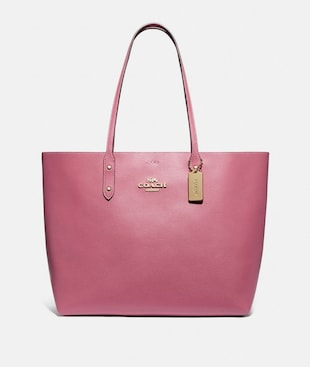 TOWN TOTE WITH SIGNATURE CANVAS INTERIOR