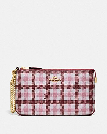 LARGE WRISTLET WITH GINGHAM PRINT