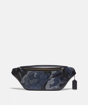 WARREN BELT BAG IN SIGNATURE CANVAS WITH CAMO PRINT