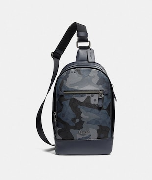 GRAHAM PACK IN SIGNATURE CANVAS WITH CAMO PRINT