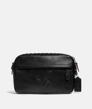 GRAHAM CROSSBODY WITH SIGNATURE MOTIF AND STUDS