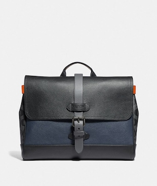 HUDSON SMALL MESSENGER WITH COLORBLOCK SIGNATURE CANVAS