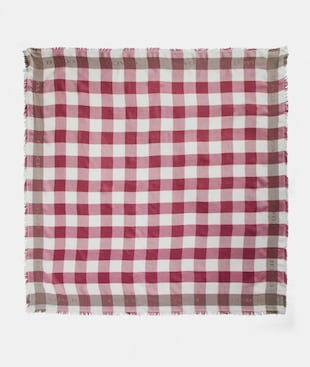 BUFFALO PLAID PRINT OVERSIZED SQUARE SCARF
